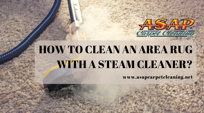 How To Clean An Area Rug With A Steam Cleaner?
