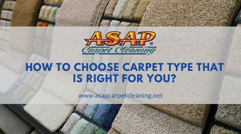 How to choose carpet type that is right for you