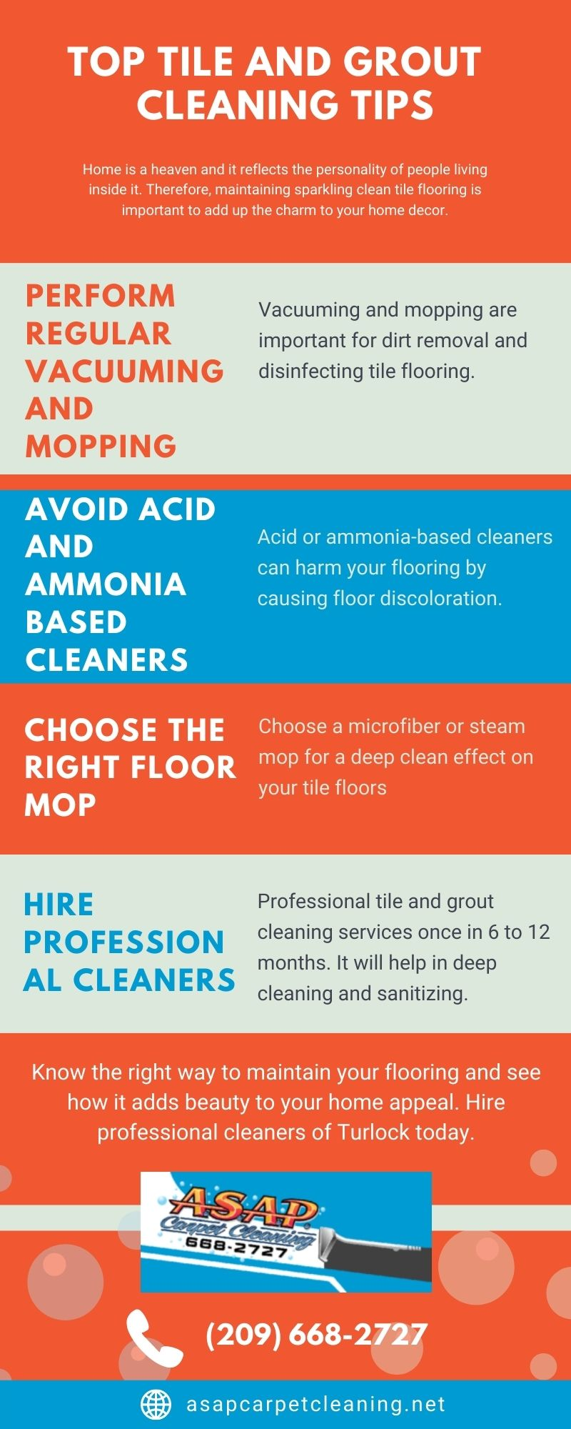 Top Tile And Grout Cleaning Tips [Infographic]