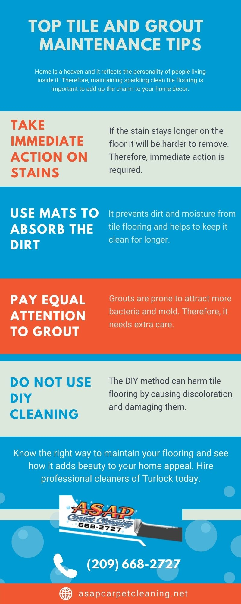 Top Tile And Grout Maintenance Tips [Infographic]